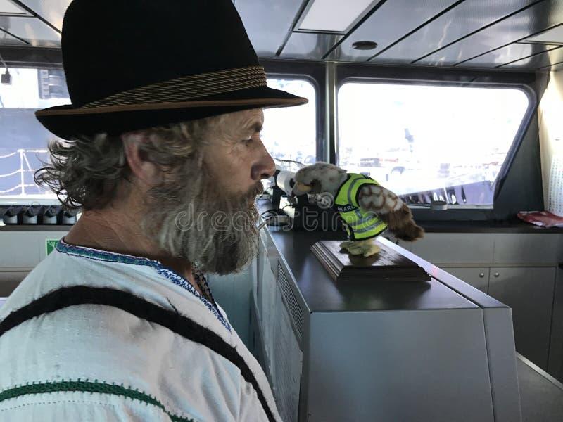 Navio de visita do camponês romeno fotografia de stock