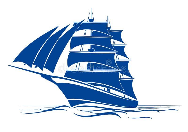 Navio do Brigantine ilustração royalty free