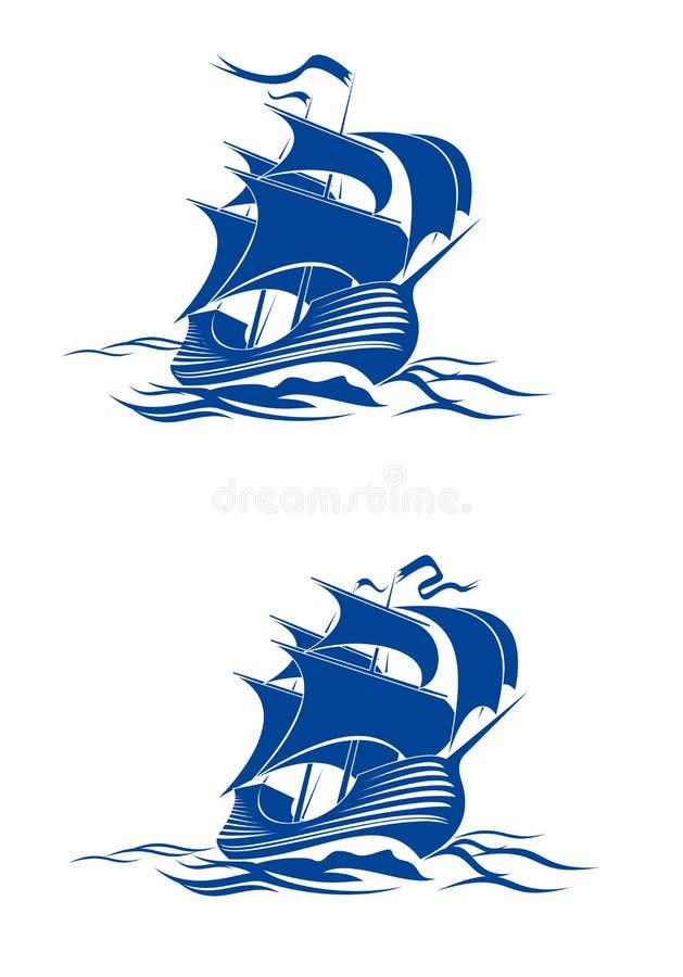 Navio do Brigantine ilustração stock