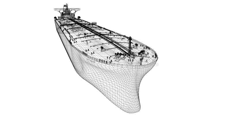 Navio do portador do petróleo cru do petroleiro fotos de stock royalty free