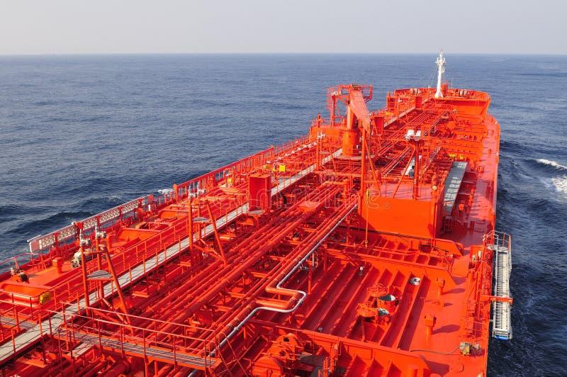 Navio do portador do petróleo cru do petroleiro foto de stock royalty free