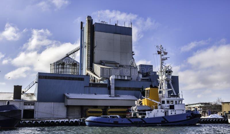 Navio piloto marítimo. Porto de Aabenraa em Dinamarca imagem de stock