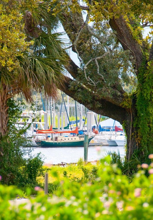 Navio em Pensacola, Florida foto de stock