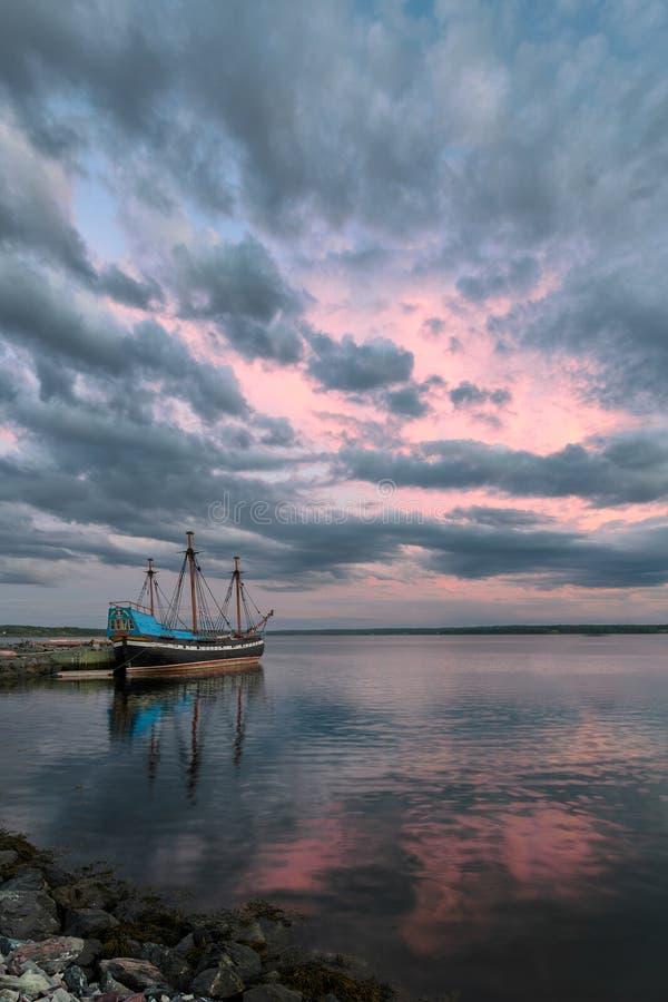 Navio Hector em Pictou, Nova Scotia foto de stock royalty free