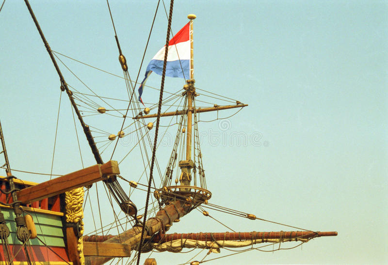 Navio holandês do VOC do século dourado de Países Baixos fotografia de stock
