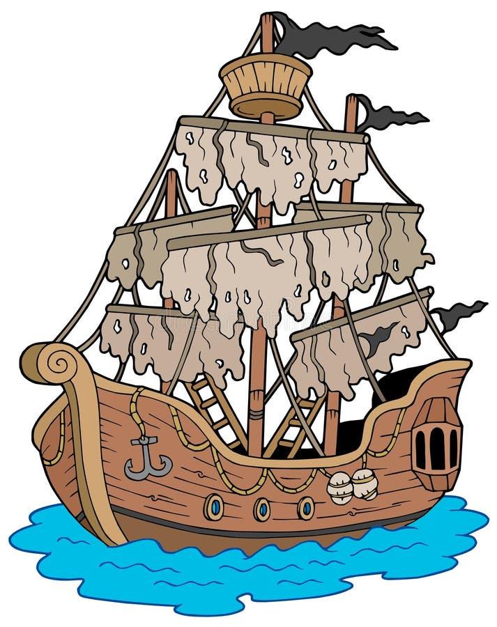 Navio misterioso ilustração royalty free