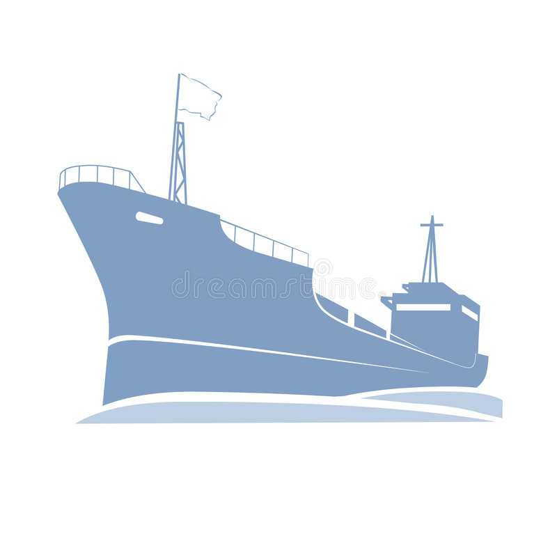 Navio no mar ilustração do vetor