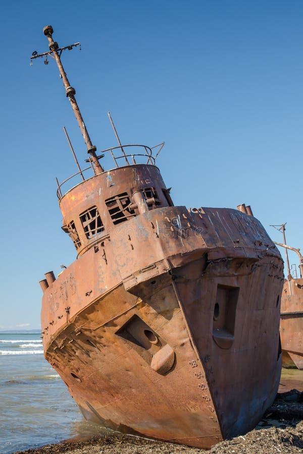 Navio oxidado fotos de stock