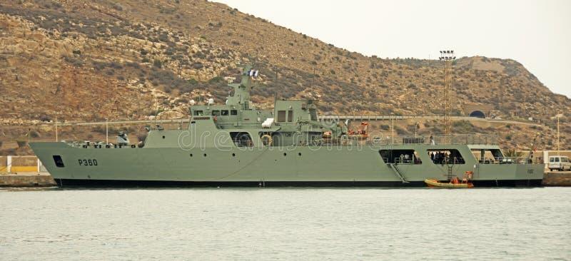 Navio português em Cartagena, Espanha imagem de stock royalty free