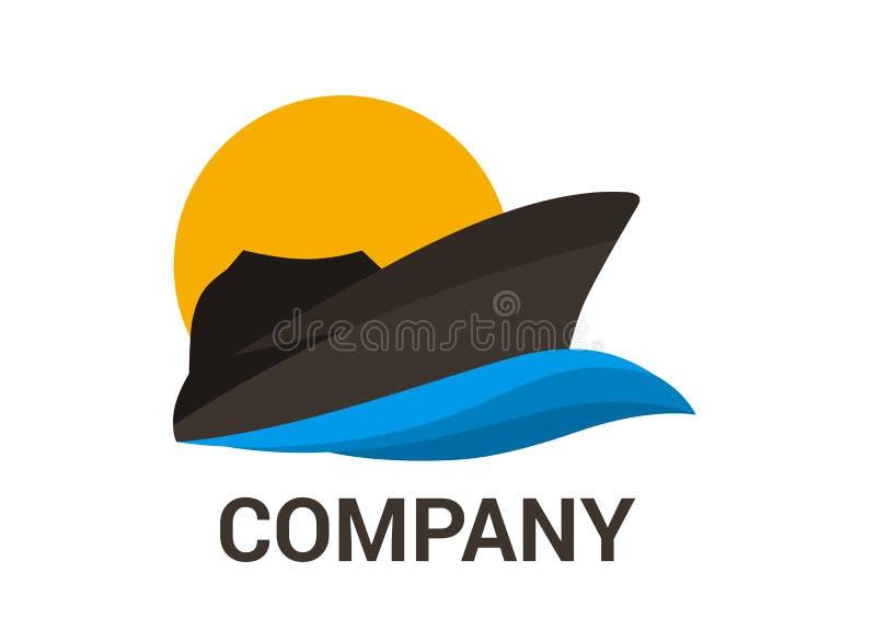 Navio preto 2 ilustração royalty free