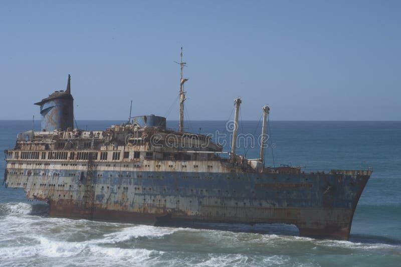 Navio Sunken imagens de stock