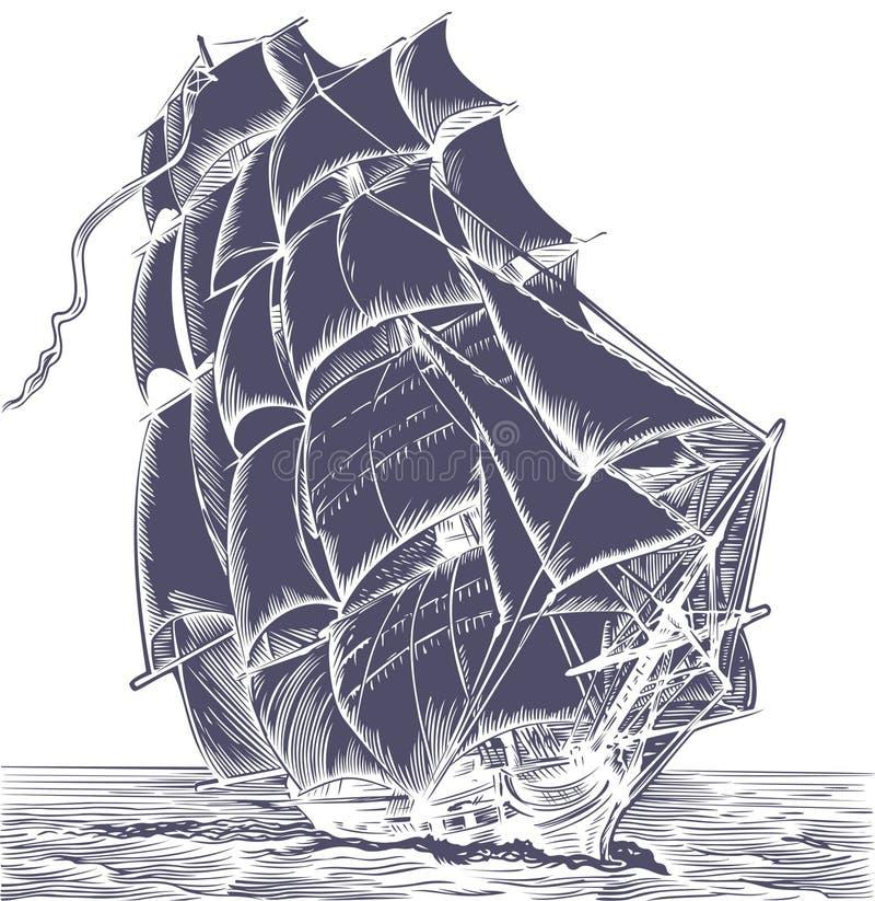 Navio velho da vela