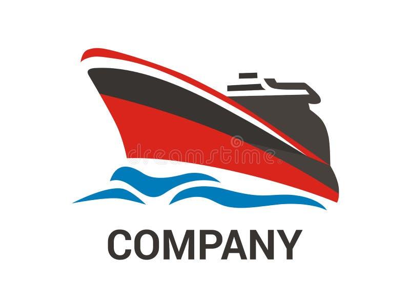 Navio vermelho 1 ilustração do vetor