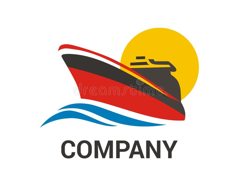 Navio vermelho 3 ilustração stock