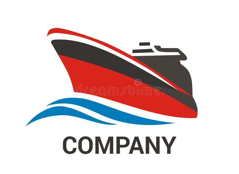 Navio vermelho 2 ilustração royalty free