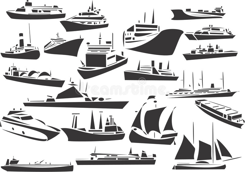 Navios ilustração royalty free