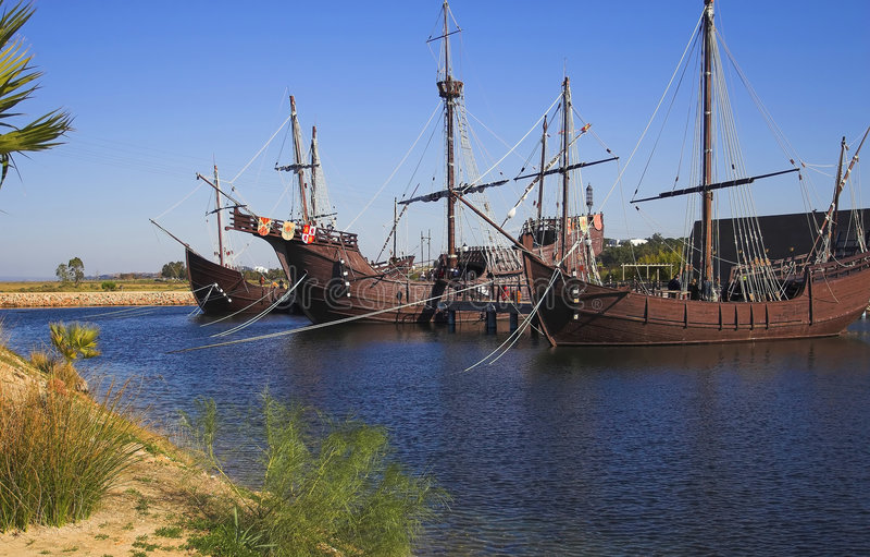 Navios de Cristobal Colon imagens de stock