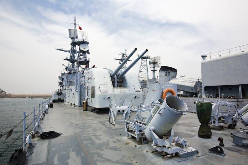 Navios de guerra foto de stock