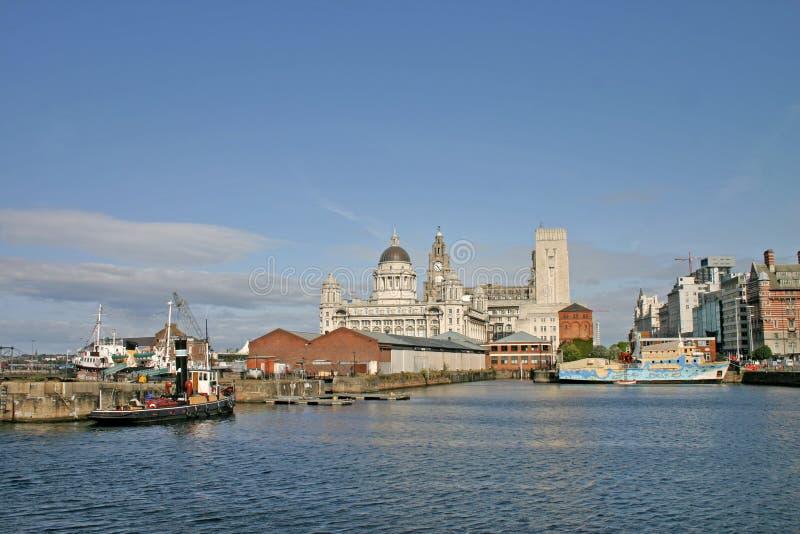 Navios de Liverpool na doca imagens de stock royalty free