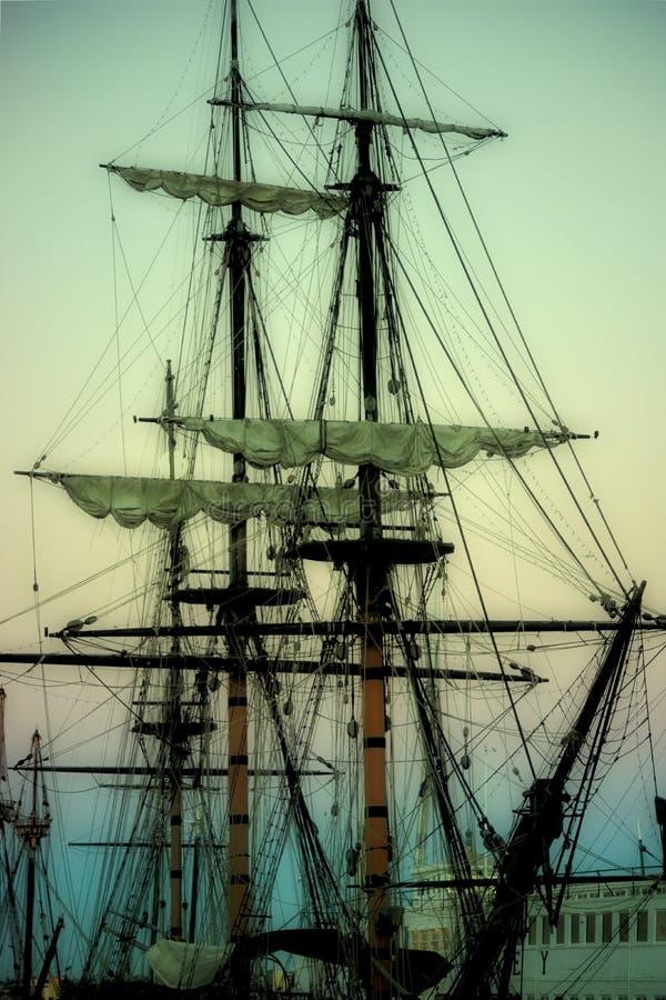 Navios de navigação velhos foto de stock royalty free
