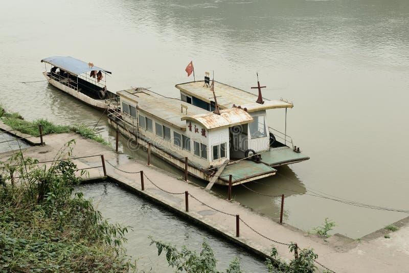 Navios do China-cruzeiro de Jiajiang no rio imagens de stock royalty free