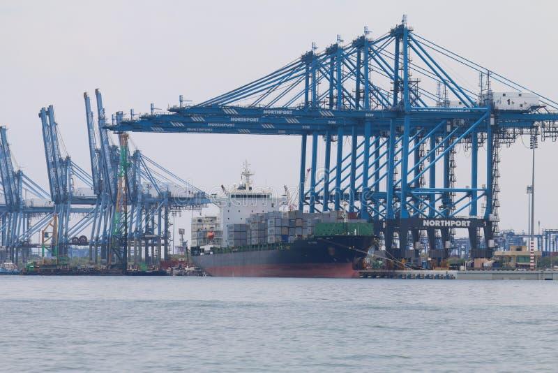 Navios em Northport, Klang, Malásia - série 3 imagens de stock royalty free