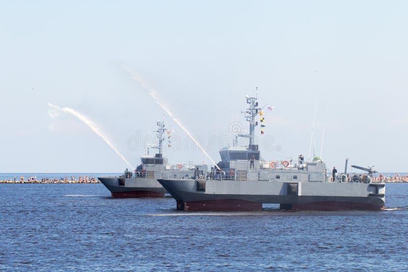 Navios militares. fotografia de stock