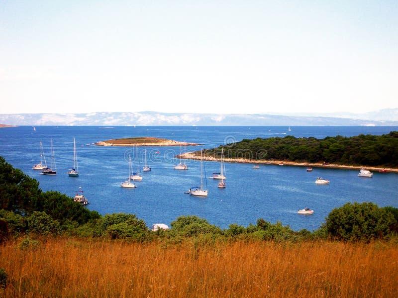 Navios no mar de Croatia imagem de stock