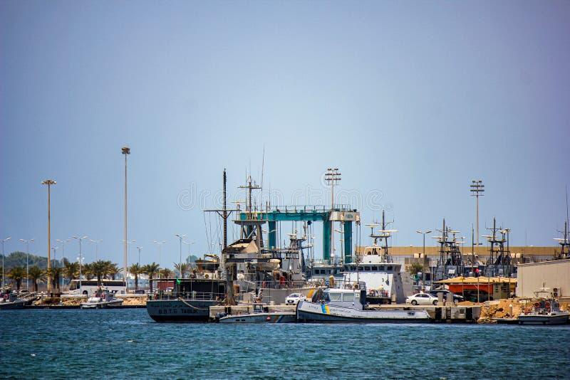 Navire au port de Djeddah Arabie saoudite images stock