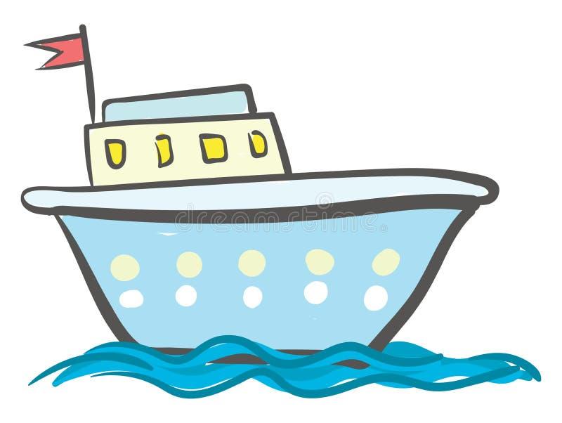 Navire Bleu Avec Vecteur De Fenetres Ou Illustration De Couleur Illustration De Vecteur Illustration Du Avec Bleu 160149304