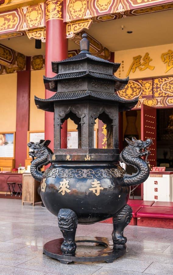 Navire d'offre chez sa Lai Buddhist Temple, la Californie photographie stock