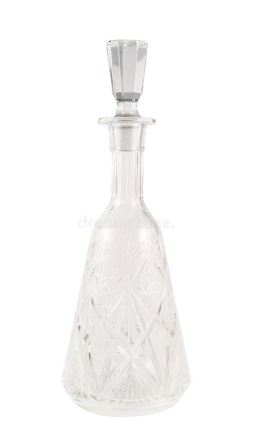 Navire de décanteur de verre cristal d'isolement photo stock
