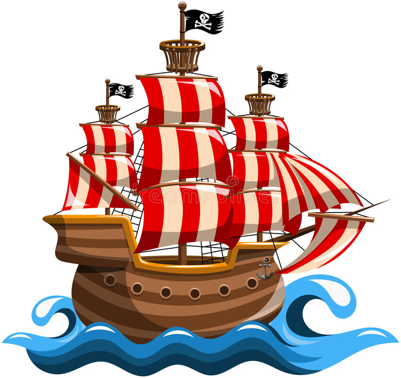 Navire de pirate illustration libre de droits