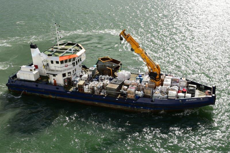 Navire environnemental vert d'eau à Southampton photo stock