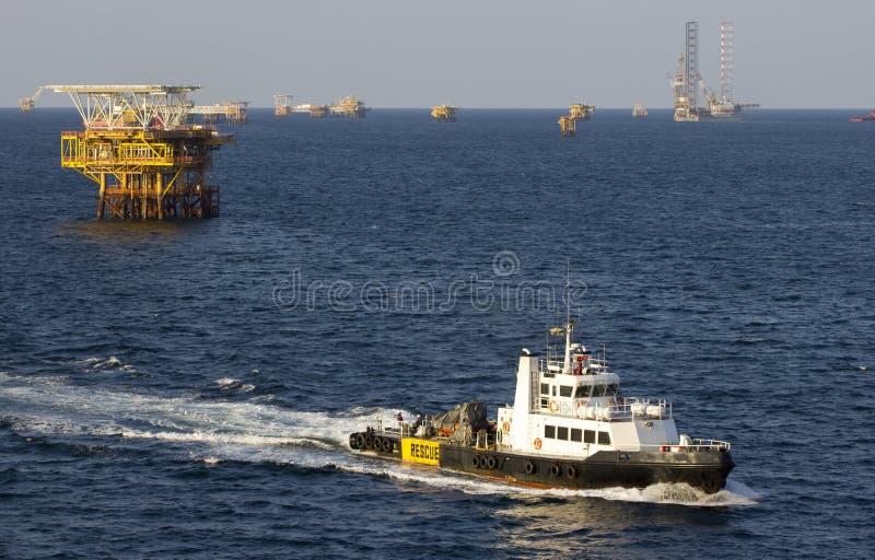 Navire et installations de transport photo stock