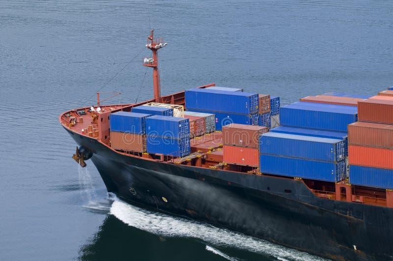 Navire porte-conteneurs photo stock