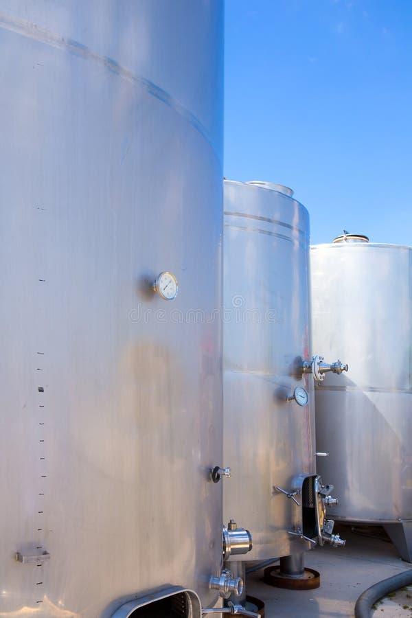 Navires de cuves de fermentation en acier inoxydable image libre de droits