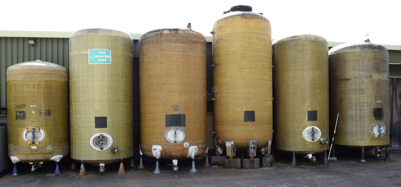Navires de fermentation image stock