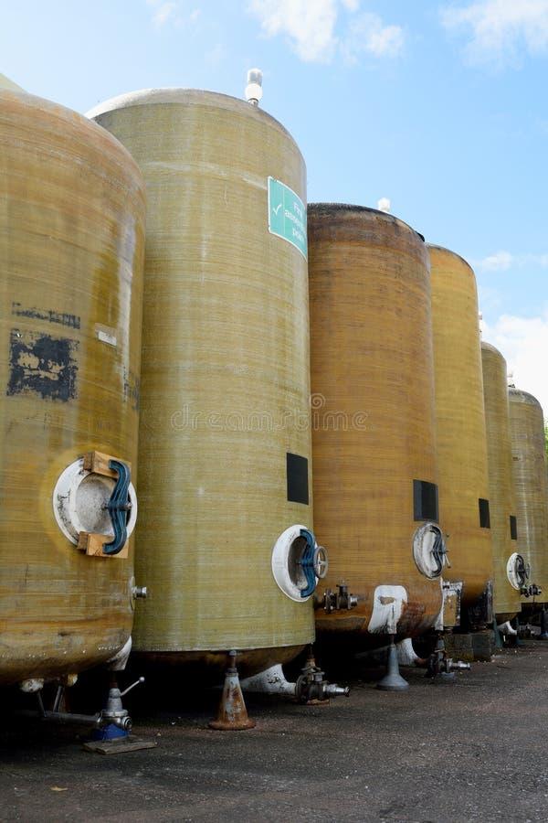 Navires de fermentation photographie stock libre de droits
