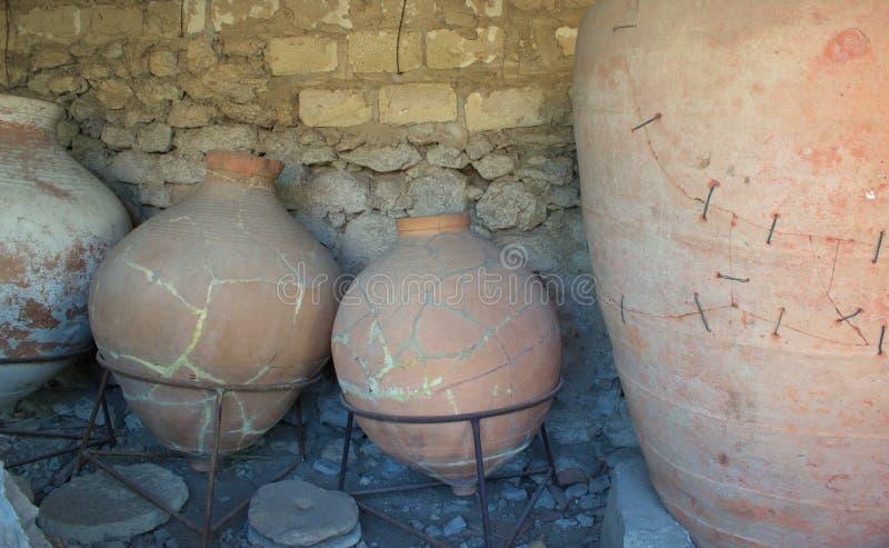 Navires de poterie de terre photos libres de droits