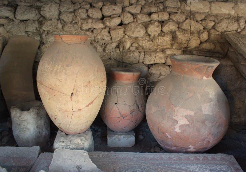 Navires de poterie de terre image libre de droits