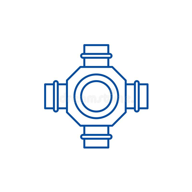 Navlinje symbolsbegrepp Plant vektorsymbol för nav, tecken, översiktsillustration stock illustrationer
