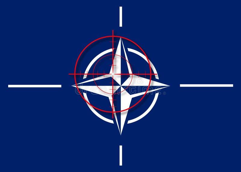 NAVO in crosshair royalty-vrije illustratie