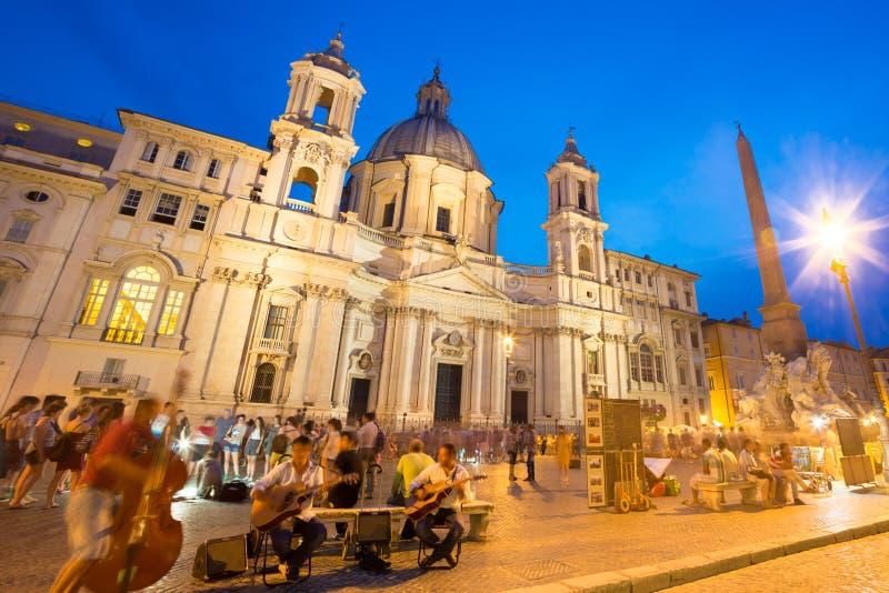 Navona fyrkant i Rome, Italien royaltyfria bilder