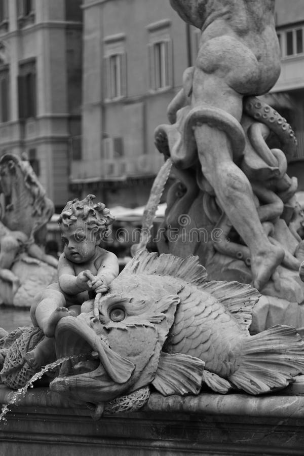 navona piazza statua obrazy royalty free