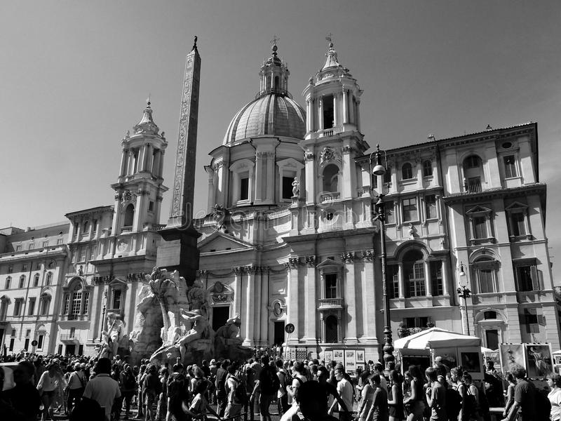 Download Navona square editorial stock photo. Image of fountain - 33814118