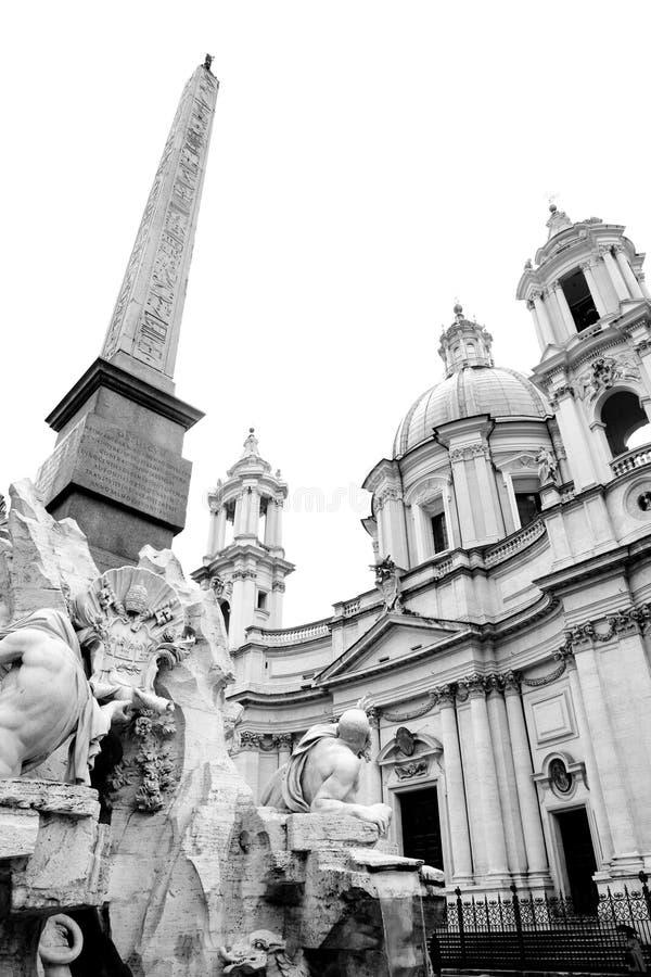 navonapiazza rome royaltyfria bilder