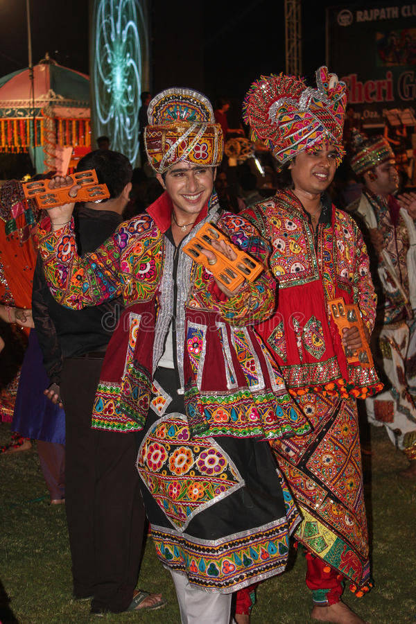 Navratri festival, Gujarat, India-3 arkivfoto