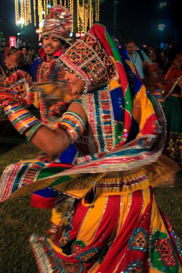 Navratri festival, Gujarat, India-8 arkivbild