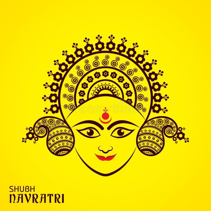Navratri utsav greeting card royalty free illustration